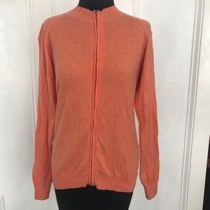 Pale orange Peter Miller zip up cardigan sz small